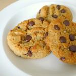 chocolade pindakaas koekjes gemaakt van kikkererwten