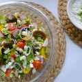 griekse salade met feta anijs dressing