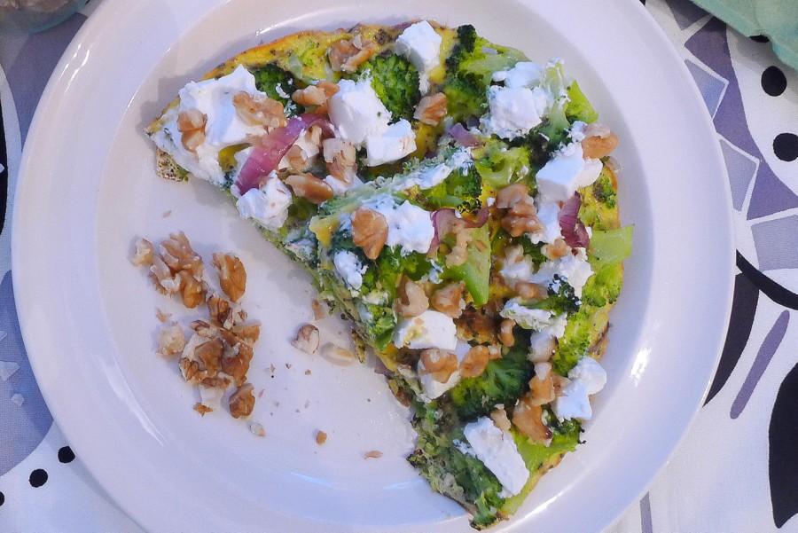 frittata met broccoli walnoten en geitenkaas