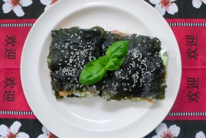 nori sandwich met zalm