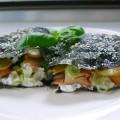 nori sandwich met warm gerookte zalm