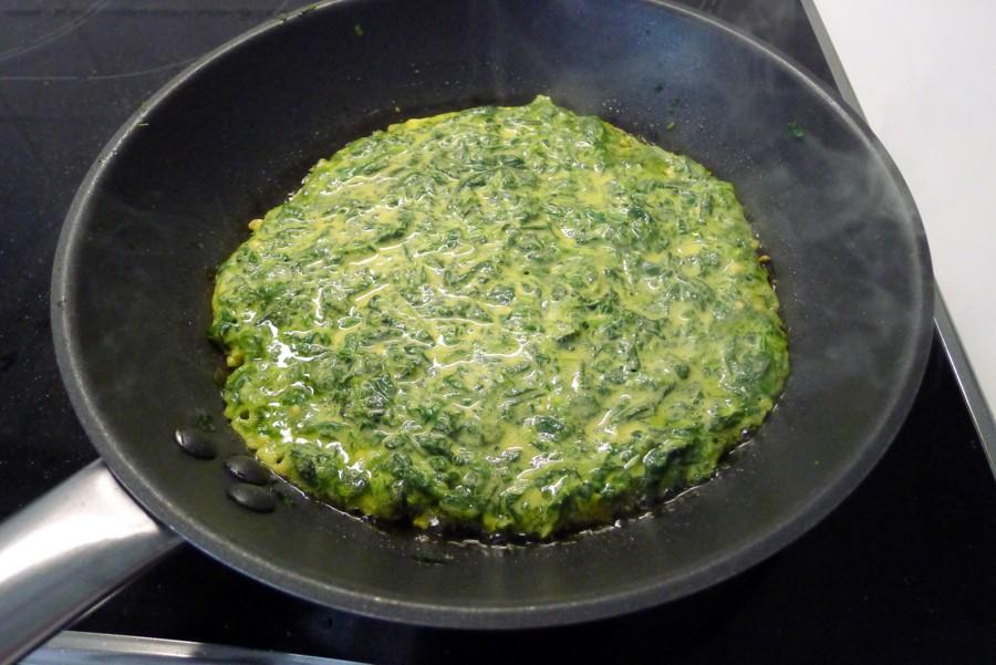 spinazie socca in de pan