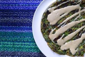 spinazie socca met tahinisaus