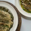 spinazie socca van kikkererwtenmeel en hennepmeel