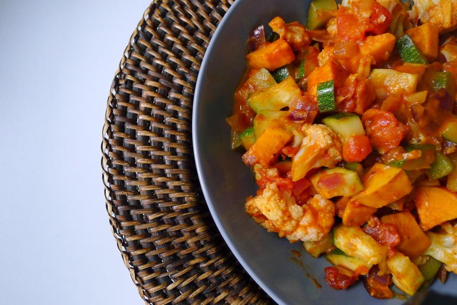 Ethiopische 'wot' groenteschotel met berbere