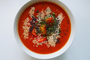tomatensoep met papaja