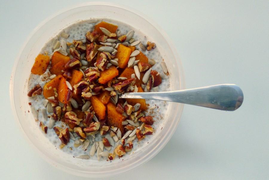 chia pompoen ontbijt
