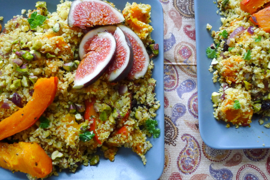 Marokkaanse bloemkool couscous met ras el hanout