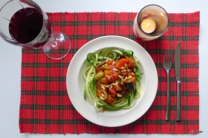 caponata calabrese zoodles