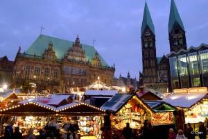 Bremen Marktplatz Kerstmarkt