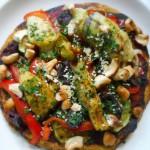 pizza marokkaans geroosterde groente