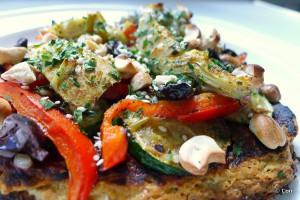 pizza koolhydraatarm gegrilde groente