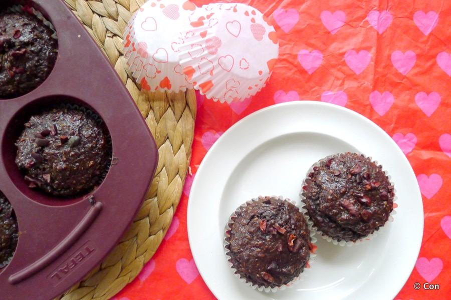 chocolade lijnzaad chili muffins