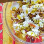 witlofsalade geitenkaas dadels noten