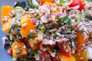 salade pompoen boekweit tomaatjes