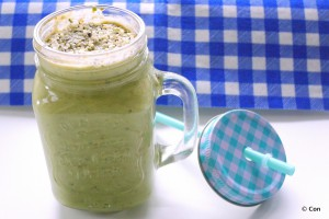 kiwi avo smoothie lowcarb