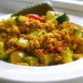 tofu roerei courgette tomaat