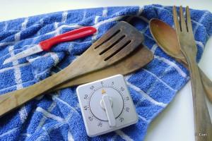 keukengerei kookwekker spatel mesje