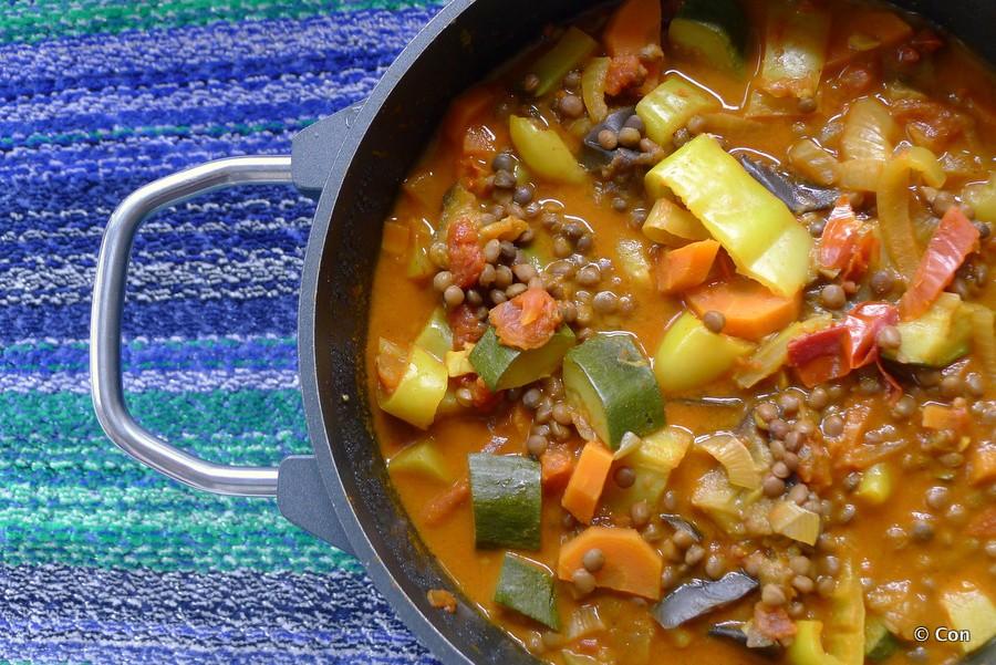 linzencurry groenten kruiden