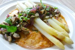 omelet met asperges