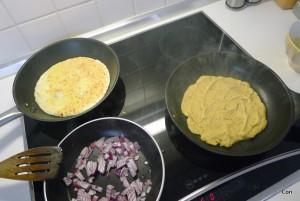 omelet kikkererwtenmeel vegan