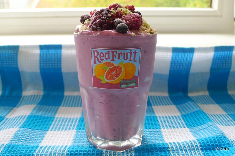 smoothie rode vruchten