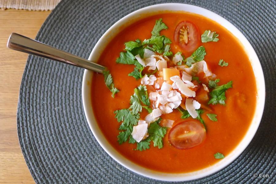 tomaten papaja soep