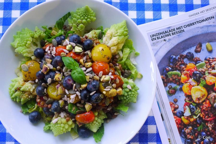 linzensalade met tomaat en blauwe bes van allerhande