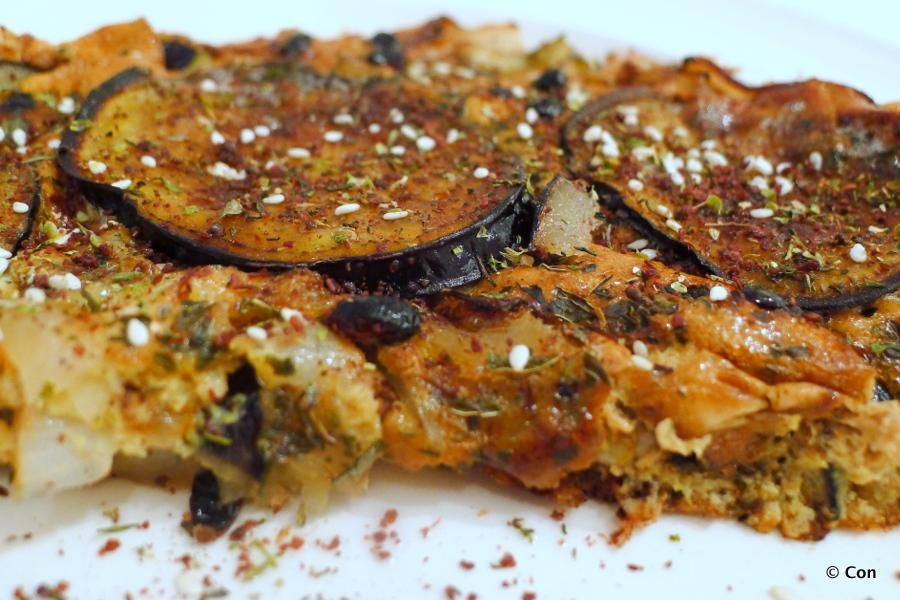 Kuku bademjan, Perzische omelet met aubergine