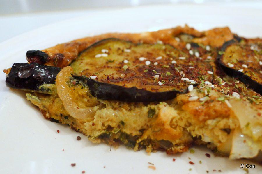 kuku bademjan persische omelet eieren