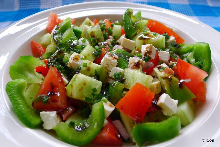 Bulgaarse shopska salade