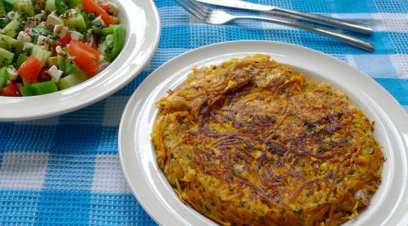 patatnik bulgaarse omelet aardappel shopska salade