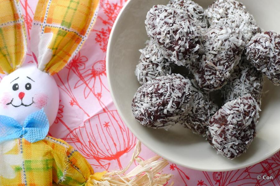 Chocolade kokos paaseitjes