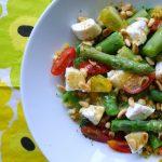 rode linzen salade asperges geitenkaas