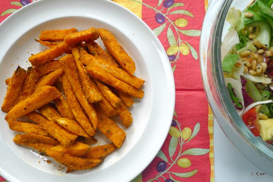 Zoete aardappel friet ~ minder koolhydraten, maximale smaak ~ www.con-serveert.nl