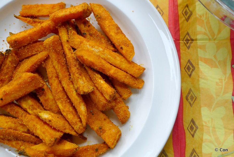 Ovenfrietjes van zoete aardappel