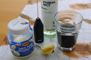Ingredienten voor bulletproof koffie