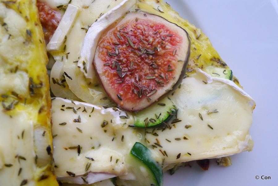 Frittata met verse vijgen en brie recept ~ minder koolhydraten, maximale smaak ~ www.con-serveert.nl