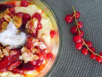 Griesmeelpap met aalbessen recept ~ minder koolhydraten, maximale smaak ~ www.con-serveert.nl