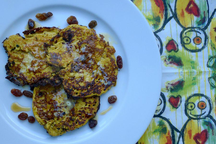 caribische pompoen pannenkoek met speculaas