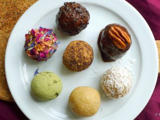 amandelspijs balletjes of bliss balls diverse toppings