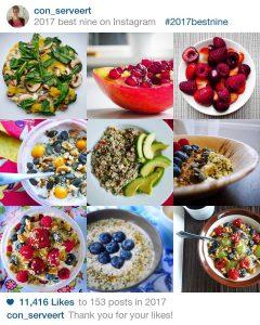 meest bekeken recepten best nine on Instagram 2017 Con_serveert