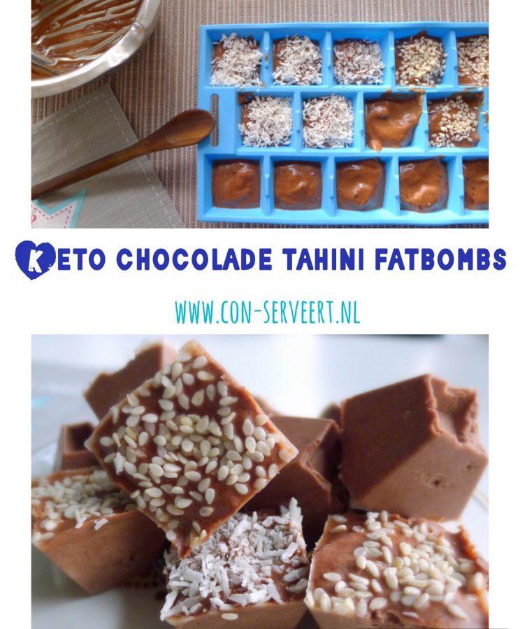 Voor alle ketogene eters die meer vetten nodig hebben, zijn deze chocolade tahini fatbombs een smakelijke uitkomst ~ minder koolhydraten, maximale smaak ~ www.con-serveert.nl