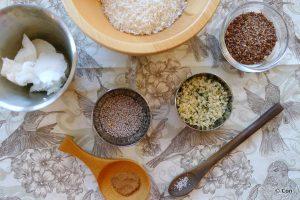 losse ingrediënten voor granola