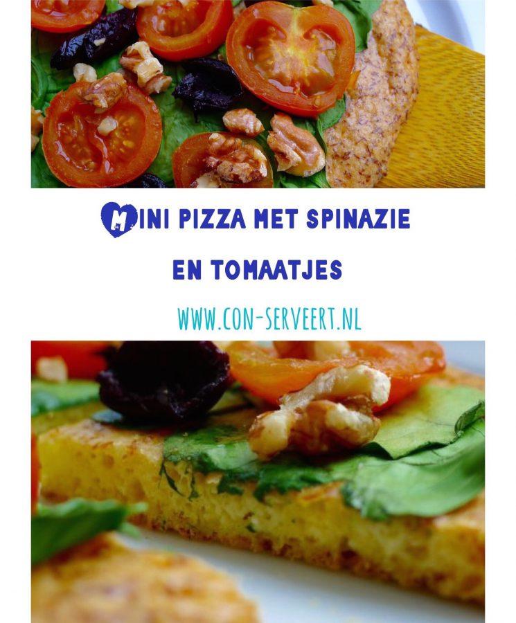 Deze mini pizza's zijn ideaal voor een lichte maar voedzame lunch met weinig koolhydraten. Wat zeg ik: bijna geen koolhydraten! ~ minder koolhydraten, maximale smaak ~ www.con-serveert.nl