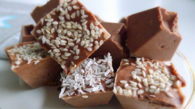 chocolade tahini fatbombs