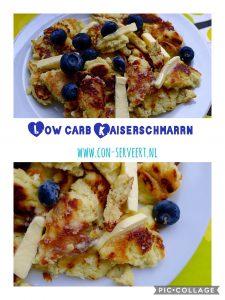 Ken je Kaiserschmarrn? Dat is een Duits recept dat ideaal is voor pannenkoeken die een beetje mislukken. En dat gebeurt nog wel eens met low carb pannenkoeken ~ minder koolhydraten, maximale smaak ~ www.con-serveert.nl