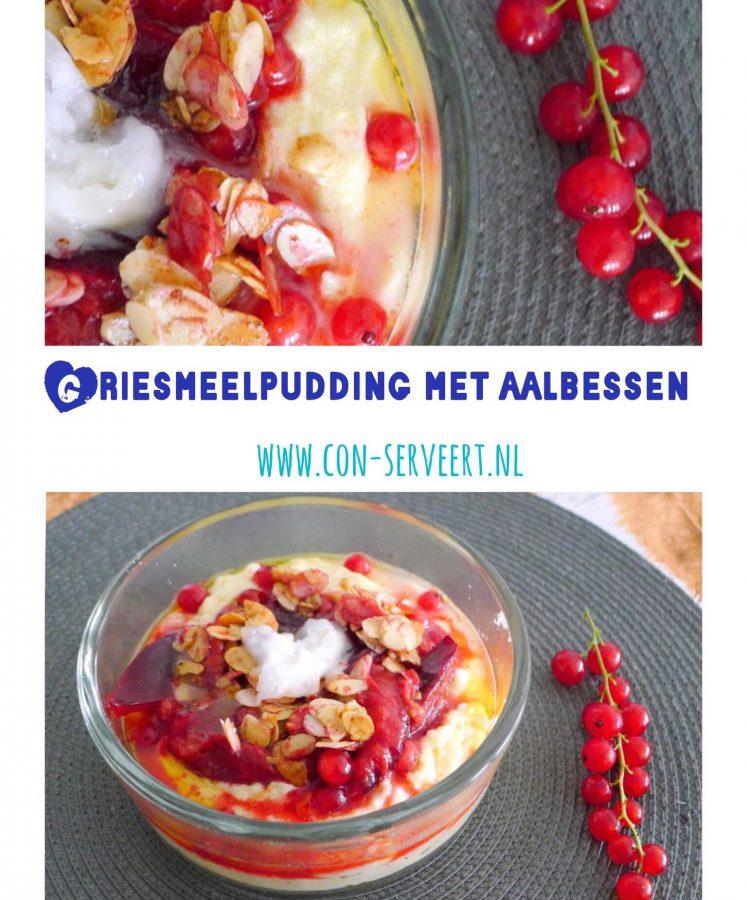 Griesmeel past niet echt in een koolhydraatarm dieet, maar eet je koolhydraatbeperkt, dan mag je jezelf best een keer hierop trakteren ~ minder koolhydraten, maximale smaak ~ www.con-serveert.nl