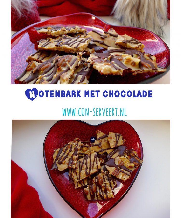 Een keto lekkernij voor Valentijnsdag? Maak dan deze notenbark met chocolade voor je lief ~ minder koolhydraten, maximale smaak ~ www.con-serveert.nl