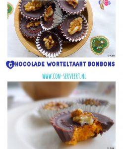 Chocolade worteltaart bonbons: logisch toch! Want als een carrot cake kan, dan past wortel ook in bonbons ... koolhydraatarm natuurlijk ~ minder koolhydraten, maximale smaak ~ www.con-serveert.nl